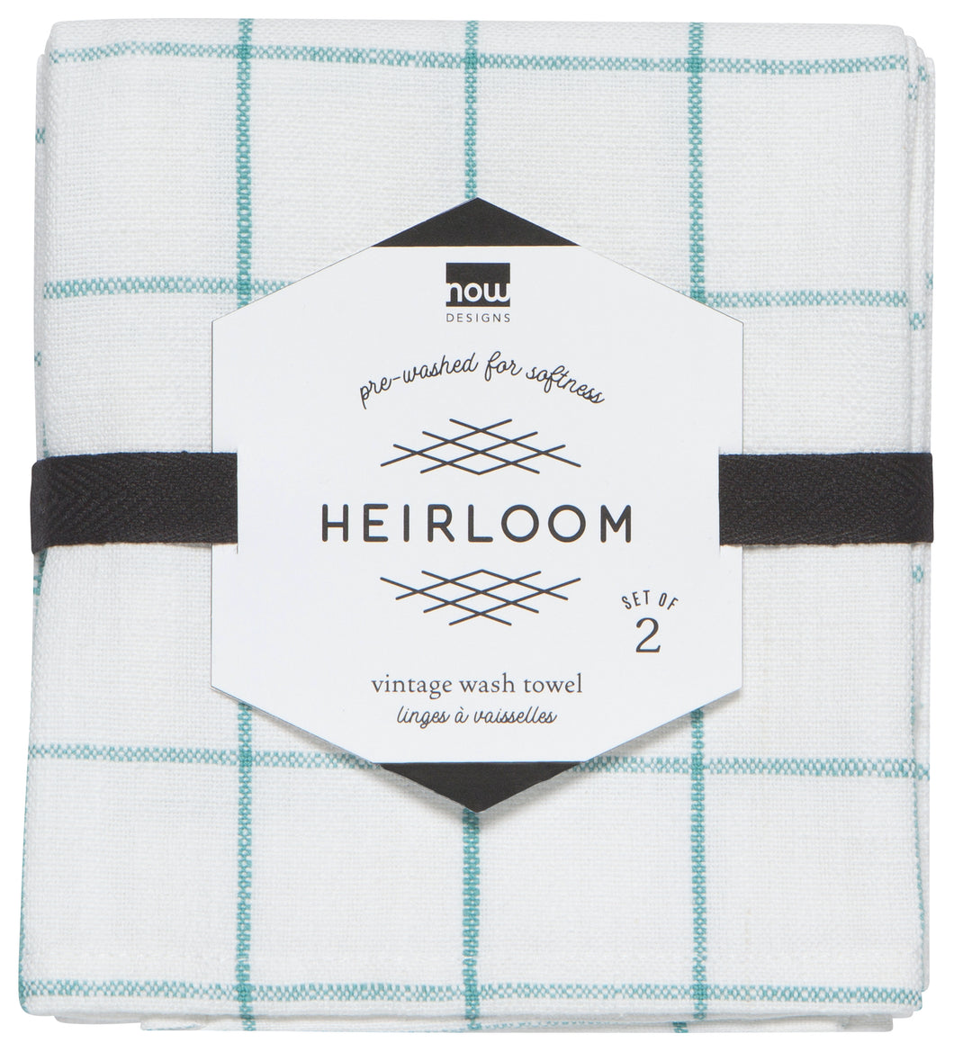 Teatowel Set Heirloom Lagoon
