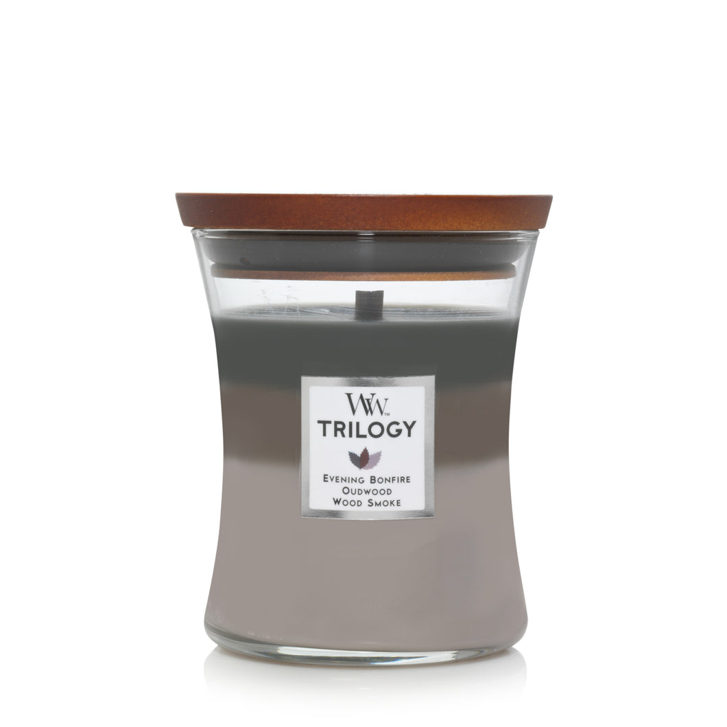 Candle Jar Woodwick Trilogy Cozy Cabin
