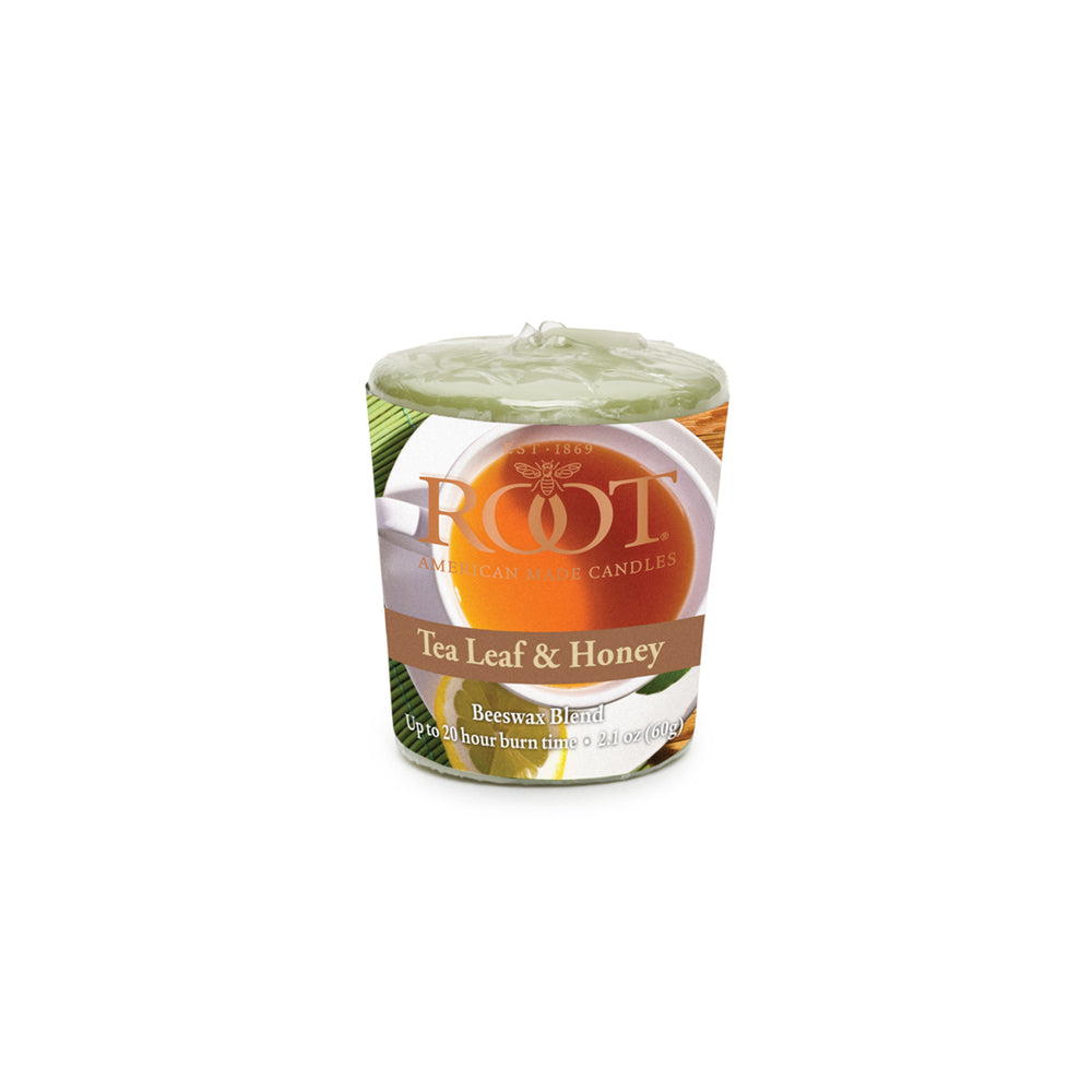Root Candles Tea Leaf & Honey Votive
