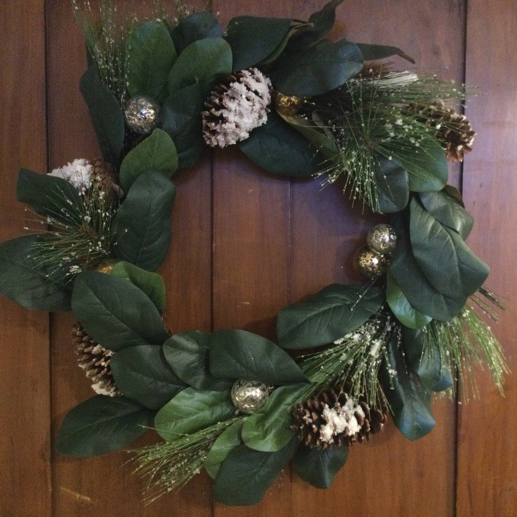 Magnolia & Pine Wreath