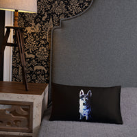 White Shepherd Neon - Basic Pillow - ArtOnAll