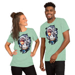 Native American woman with horses - Short-Sleeve Unisex T-Shirt - ArtOnAll