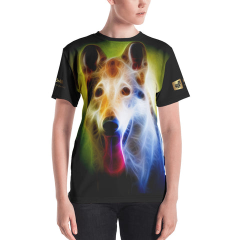 German Shepherd Neon - Women's T-shirt - ArtOnAll