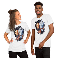 Native Americans woman with horse. - Short-Sleeve Unisex T-Shirt - ArtOnAll