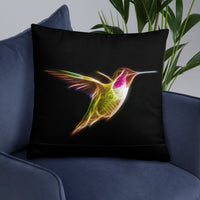 Hummingbirds Neon - Basic Pillow - Thank You First Defenders / Responders