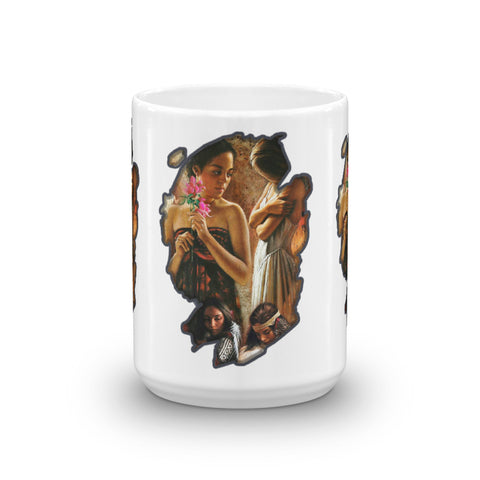 Native American woman - Mug - ArtOnAll