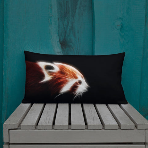 Red Panda Neon - Premium Pillow - ArtOnAll
