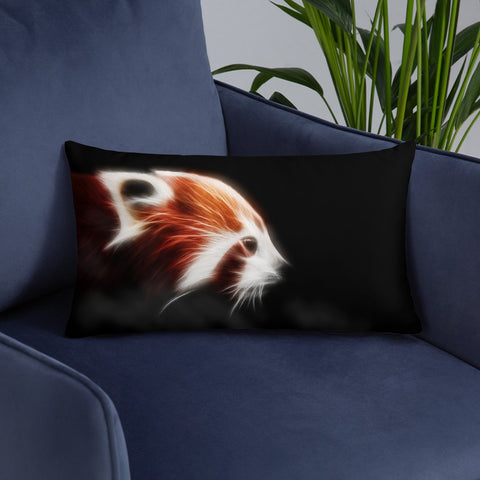Red Panda Neon - Basic Pillow - ArtOnAll