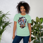 Indian with Horse - Short-Sleeve Unisex T-Shirt - ArtOnAll