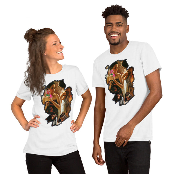 Native American woman - Short-Sleeve Unisex T-Shirt - ArtOnAll