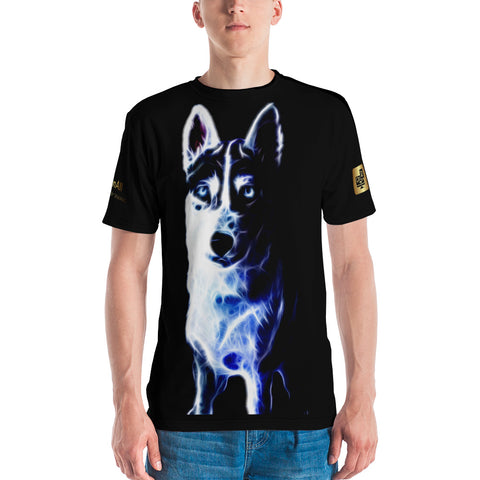 White Shepherd Neon - Men's T-shirt - ArtOnAll