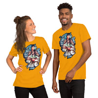 Indigenous American woman with wolf - Short-Sleeve Unisex T-Shirt - ArtOnAll