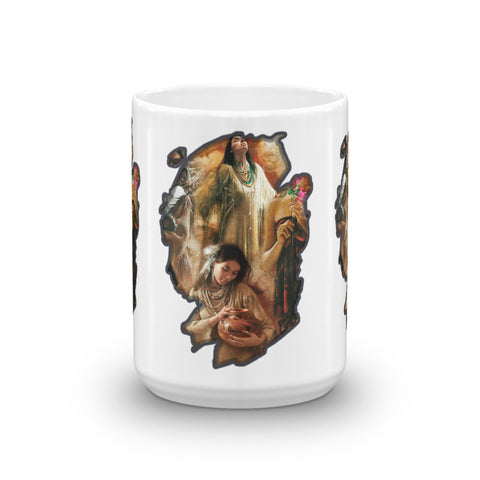 Female Native Americans - Mug - ArtOnAll