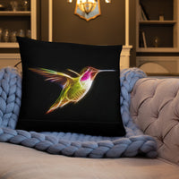 Hummingbirds Neon - Basic Pillow - ArtOnAll