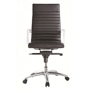 Zetti High Back Executive Black Leather Chair