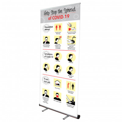 STOP THE SPREAD POP UP BANNER WITH STAND