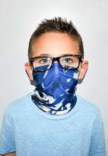 Load image into Gallery viewer, Blue Multi Neck Gaiter - Youth