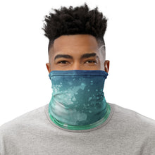 Load image into Gallery viewer, Teal Tie Dye Neck Gaiter