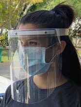Load image into Gallery viewer, Protective Plastic Splash Face Shield - Assembled - REUSABLE