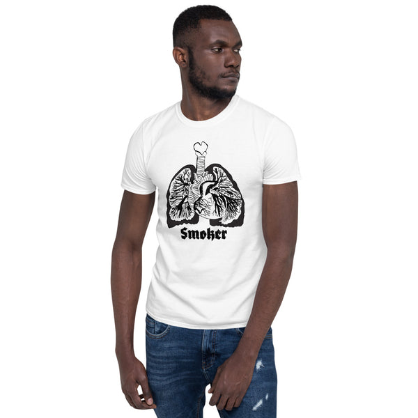 black lungs smoker T-shirt for men by brainbat