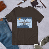 get me the flight out of here t-shirt by brainbat