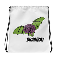 brainbat logo drawstring bag