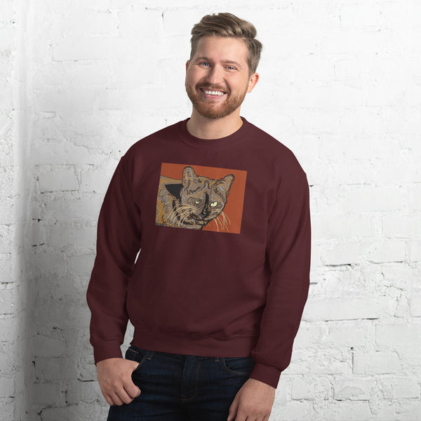 braincat artistic sweatshirt by brainbat