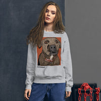 kona the barbarian doggie sweatshirt by brainbat
