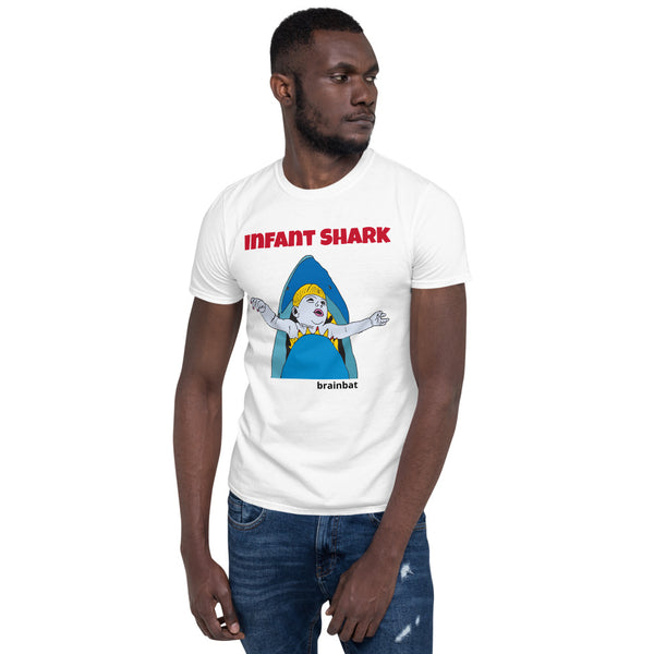 Infant Shark T-shirt for men by brainbat