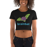 brainbat logo crop top