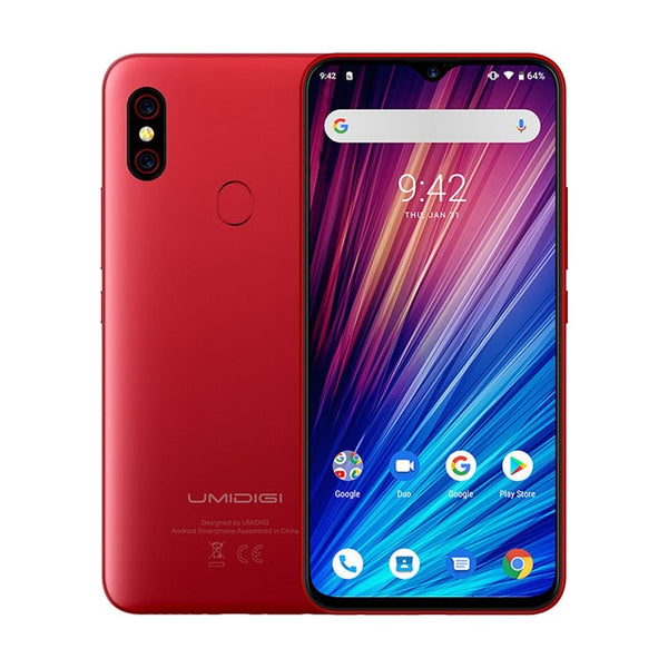 "UMIDIGI F1 Play Android 9.0 48MP+8MP+16MP Cameras 5150mAh 6GB RAM 64GB ROM 6.3"" FHD octa core Smartphone unlocked 4g mobile phon"