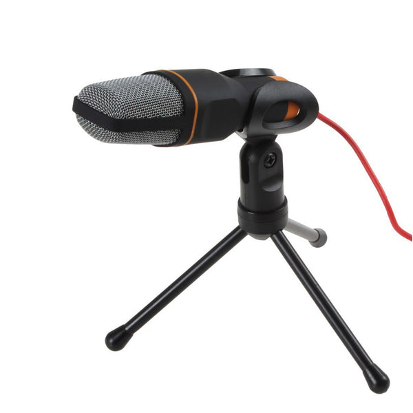 TGETH SF-666 Microphone 3.5mm Jack Wired With Stand Tripod Handheld Mic For PC Chatting Singing Karaoke Laptop