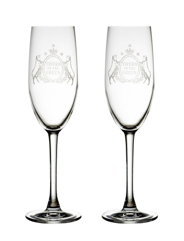 Set of two Champagne flutes  / box set