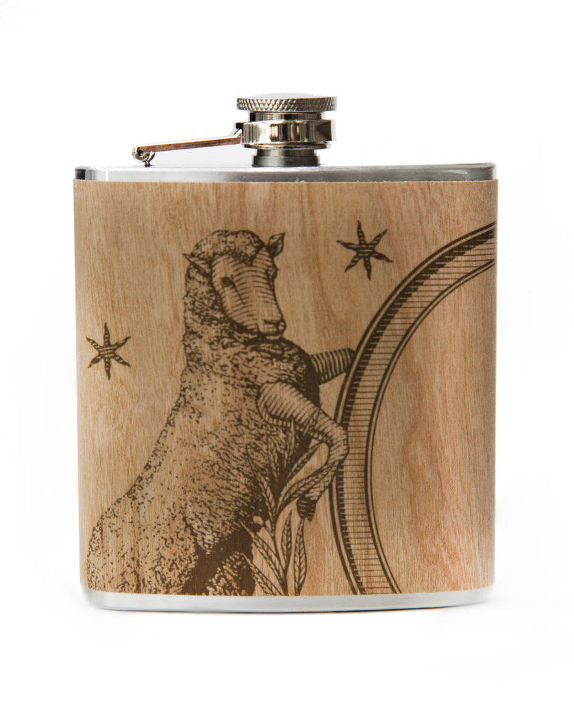 Wooden Flask- logo
