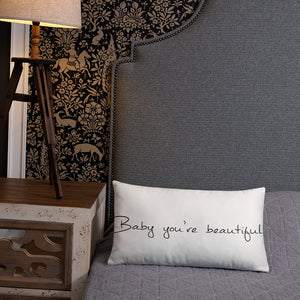 "David Hernandez ""Beautiful"" Basic Pillow"