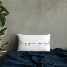 "Load image into Gallery viewer, David Hernandez ""Beautiful"" Basic Pillow"