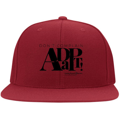6297F Flat Bill Twill Flexfit Cap-Dont Complain Adapt Black - GBB Inspirations