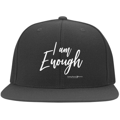 6297F Yupoong Flat Bill Twill Flexfit Cap-I Am Enough - GBB Inspirations