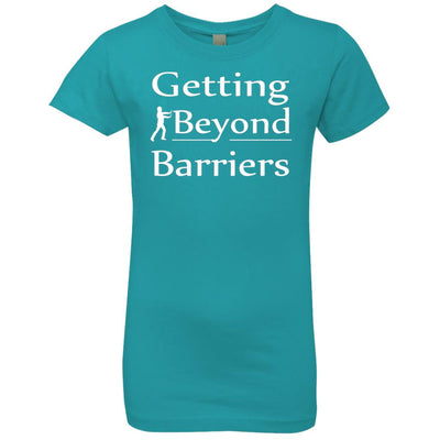 NL3710 Girls' Princess T-Shirt-Getting Beyond Barriers White