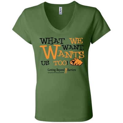 B6005 Ladies' Jersey V-Neck T-Shirt - GBB Inspirations