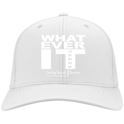 C813 Flex Fit Twill Baseball Cap- Whatever It Takes White - GBB Inspirations