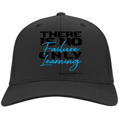 C813 Port Authority Flex Fit Twill Baseball Cap-There Is No Failure Only Learning - GBB Inspirations