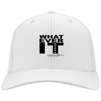 C813 Port Authority Flex Fit Twill Baseball Cap-What Ever It Takes Black - GBB Inspirations