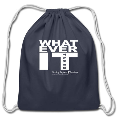 Cotton Drawstring Bag-Whatever It Takes White - GBB Inspirations
