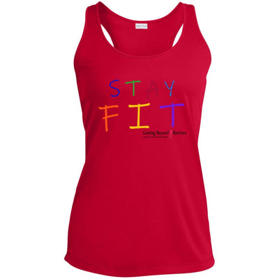 Ladies' Racerback Moisture Wicking Tank-STAY FIT - GBB Inspirations