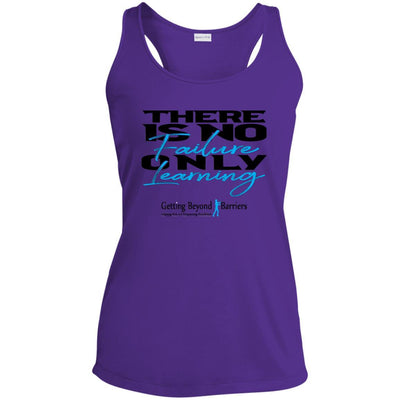 Ladies' Racerback Moisture Wicking Tank-There Is No Failure - GBB Inspirations