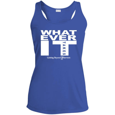 Ladies' Racerback Moisture Wicking Tank-Whatever It Takes White - GBB Inspirations