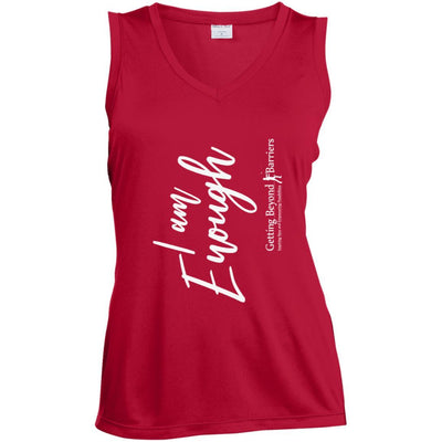LST352 Ladies' Sleeveless Moisture Absorbing V-Neck - GBB Inspirations