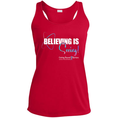 LST356 Ladies' Racerback Moisture Wicking Tank-Beliving Is Seeing! - GBB Inspirations