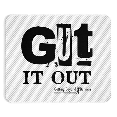 Mousepad-Gut It Out Black - GBB Inspirations